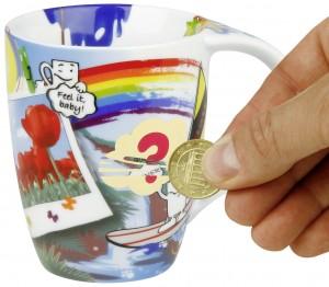 Tassen mit Rubbeleffekt